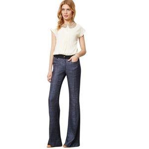 Elevenses The Brighton Tweed Wide Leg Pant Blue 4